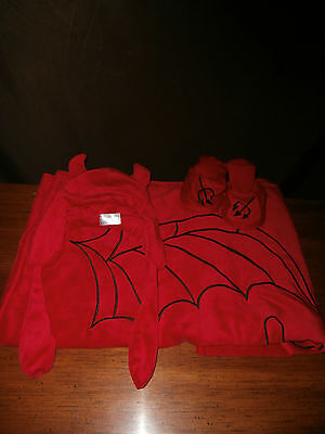 New-4Pc Lil Devil Baby Photo Prop Set.0-12M Baby Blanket Set.Baby Devil Costume