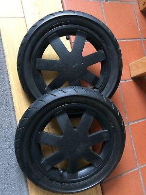 Set / Pair of Quinny Buzz 3 / 4  Rear Back Wheels Black - Good Condition