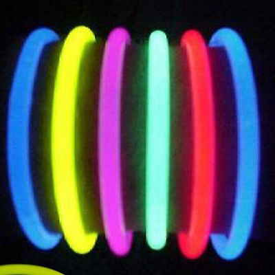 "100 / 200 /300 PCS  8"" Glow Sticks Bracelets 8 Colors Neon Glow Party Necklace"
