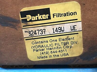 Lot of 3 New Parker 924737 149W WE Hydraulic Replacement Filter (U9)