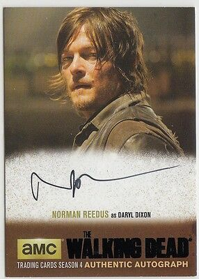 The Walking Dead Season 4 Pt.1 - Nr1 Norman Reedus (Daryl) Black Autograph Card
