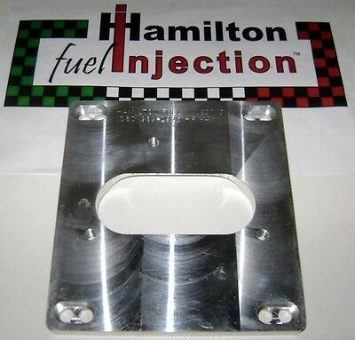 CnC machined 4 BBL TBI adapter for SBC 4.3/5.0/5.7  Hamilton Fuel Injection