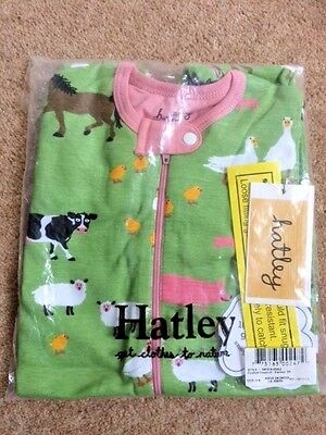 CLOSING DOWN SALE  Footed Coverall 'Farmer Jill' by Canadian Designer Hatley