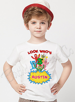 Yo Gabba Gabba Shirt Custom Name and Age Birthday Shirt  Personalized T-shirt
