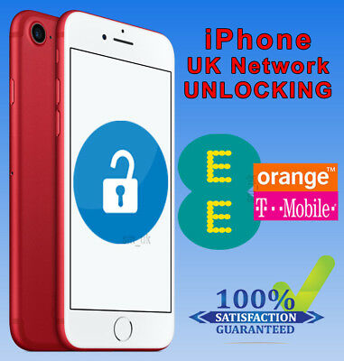 iPhone 7 & 7 Plus Factory Unlocking Service For UK EE Orange Tmobile -24Hrs