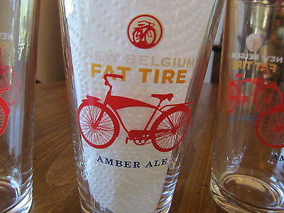 Fat Tire Amber Ale 1 Pint Beer Glass New Belgium Brewing Co.