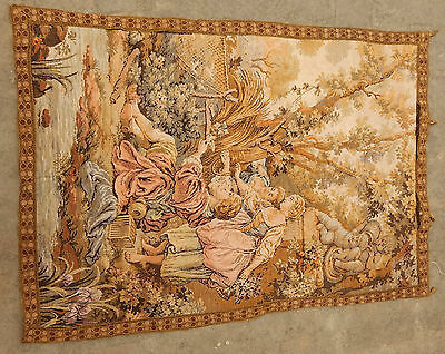 Vintage French Beautiful Romantic Scene Tapestry 102x69cm (A266)