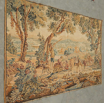 Large Vintage French Beautiful Scene Tapestry 190x138cm (A236)