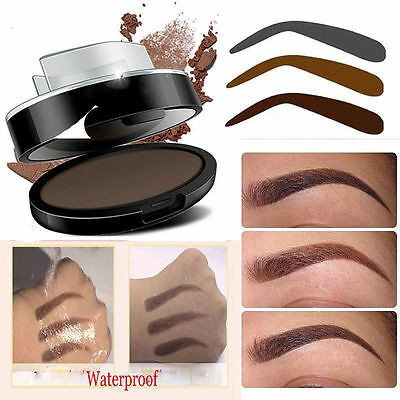 EYEBROW STAMP Powder Palette Natural Definition Brow Makeup Cosmetic NEW UK