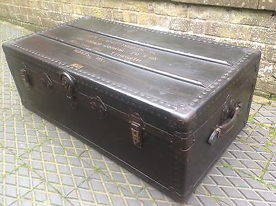 Large Steamer Trunk Coffee Table 1930s Vintage Condition Military Captains Gurka