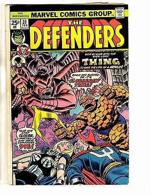 Lot Of 3 Defenders Marvel Comic Books # 20 21 24 Hulk Dr. Strange Hellcat NP1