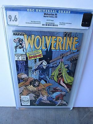 Marvel's Wolverine  # 4 Graded By  Cgc At A 9.6