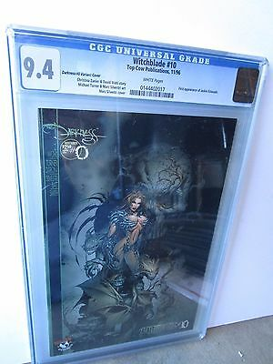 Top Cow Witchblade # 10 Graded By Cgc At 9.4, 1St Appearance Of Darkness,variant