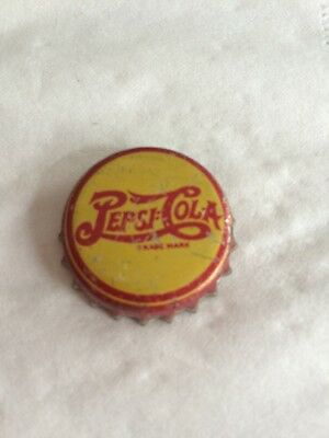 VIntage Pepsi Cola Double Dot Soda Bottle Cap-Yellow & Red Print Small Trademark