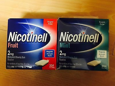 Nicotinell Mint / Fruit 2mg Regular Strength Medicated Nicotine Gum | 204 Pieces