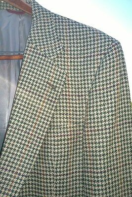Classic Men's Jos A. Bank SILK Plaid Blazer Jacket Union Made in USA Size 41 Med