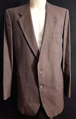 Mens YVES SAINT LAURENT French Couture Designer Blazer Jacket 42 Medium Gray