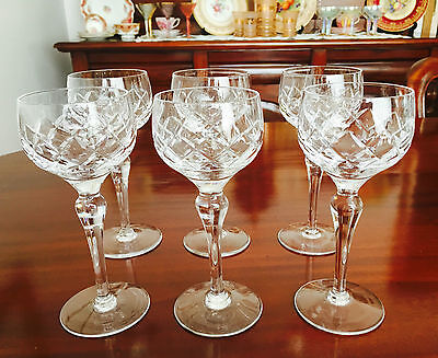 Stunning Set Of 6 Tall Crystal Liqueur/sherry/aperitif Glasses