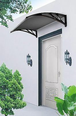 Frazer Window Awning Door Canopy Cover 1m Tinted Cover- Black Brackets