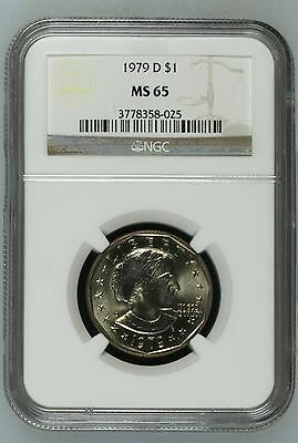 1979-D Susan B Anthony One Dollar NGC MS65