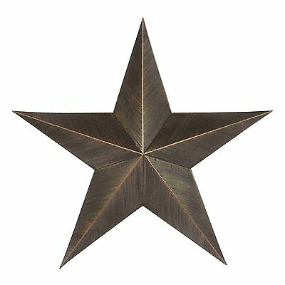 Metal Country Off-Black Antique Barn Star Country Primitive Star Wall Décor