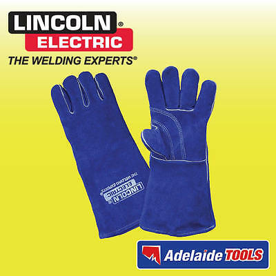 Lincoln Electric Premium Leather Welding Gloves Blue - LA120-2
