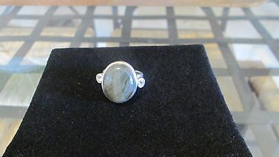 Stunning Labrodorite  Sterling Silver  Ring.. Size 8