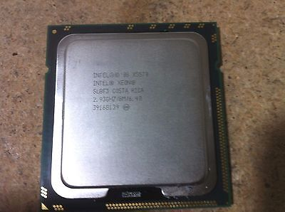 Lot of 2 Intel X5570 Xeon 2.93GHz / 8M / 6.40 SLBF3 Quad Core Processor