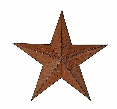 """Metal Antique Barn Star Rustic Country Primitive Wall Décor Distressed Brown 11"""""""