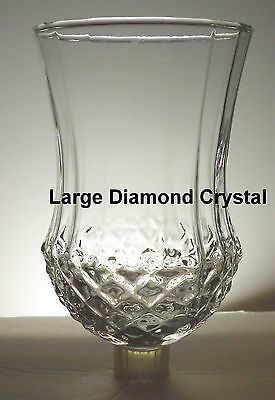 Home Interior Large Diamond Crystal Votive Cup  w/ rubber grommet