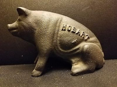 "Antique Vintage Cast Iron Pig Piggy Bank 4.75""L"
