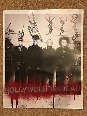 Hollywood Undead Authentic Band Signed Promo Poster Record Store Day