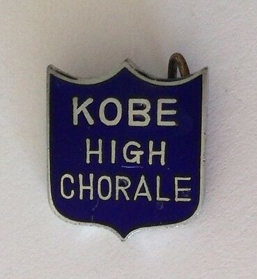Kobe High Chorale Japan Chorus Authentic Pin Badge Rare Music (N9)