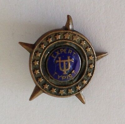 Expert Typist Old Authentic Small Pin Badge Rare Music (N9)