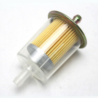 Universal Inline Gas Petrol Fuel Filter 8mm 3/8'' Pipe Motorcycle Bike Dirt Quad