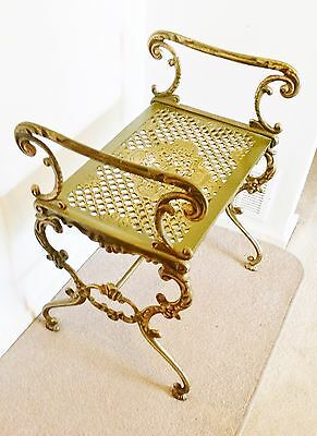 Antique Style Decorative Gold Metal Seat Or Planter Stand