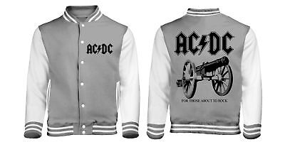 For Those About To Rock (Baseball Style Varsity Jacket Unisex: Small) Ac/Dc