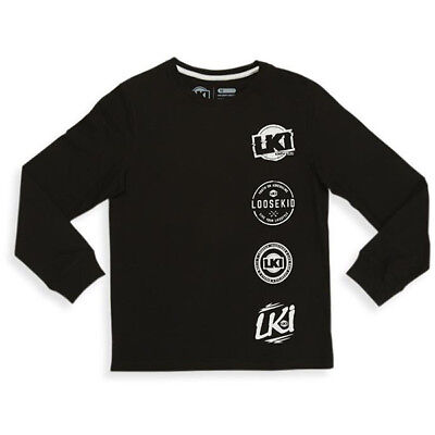 LKI NEW Loosekid Player Black Kids Youth Long Sleeve T-Shirt LS Tee