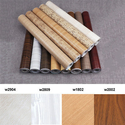 10M Wall Wood Grain Self Adhesive Mural Decal PVC Wallpaper Film Sticker Decor