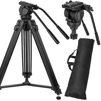 ZOMEI VT666 Pro Heavy Duty Camcorder Camera Tripod Fluid Head Stand for DSLR DV
