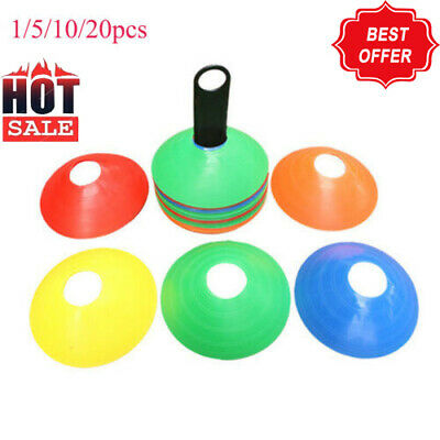 1-20x Sports Training Discs Markers Cones Soccer Afl Exercise Personal Fitness