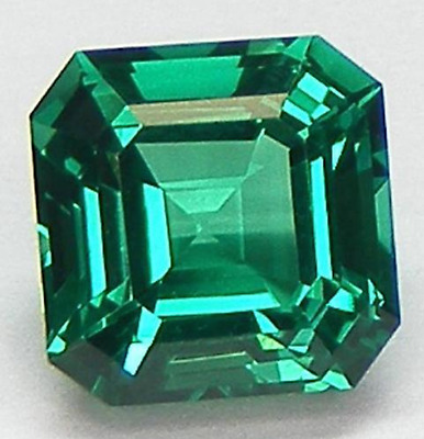 Lab-Created Synthetic Emerald Green Nano Crystal Asscher Loose Stone (4x4-20x20)
