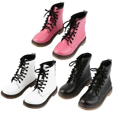 1 Pair Women Girl Cool Punk Ankle Martin Boots Mid Calf Boots Fashion Shoes OK