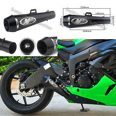 Stainless Steel Grenade Exhaust Tail Pipe Vent Pipe Slip On M4 Motorcycle 51mm