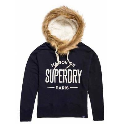 Sweat Superdry femme applique fur slouch hood