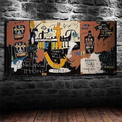 """Jean Michel Basquiat """"the nile basquiat"""" HD print on canvas huge wall picture"""