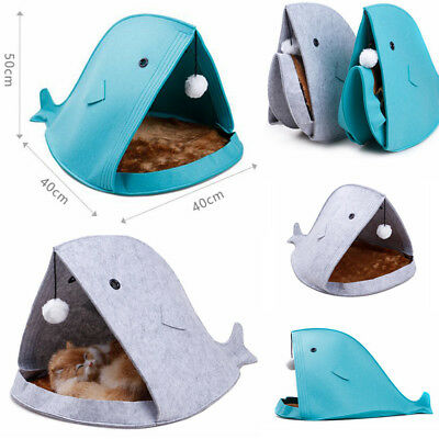 New Pet Cat Sleeping Bed Kitten Puppy Dog Cave House Nest Kennel Blanket Cushion
