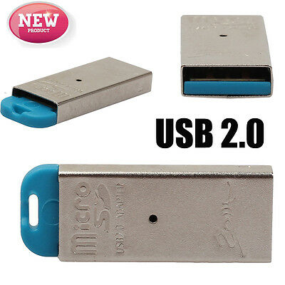 High Speed Mini USB 2.0 Micro SD TF T-Flash Memory Card Reader Adapter Silver