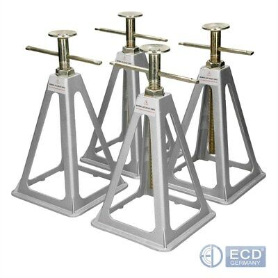 Caravan axle stands 4 jack stands sitting static supports stabilisers 4 ton lift