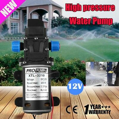 High Pressure Self Priming Water Pump 12V 100W 160Psi 8Lpm Caravan Boat 8L/min